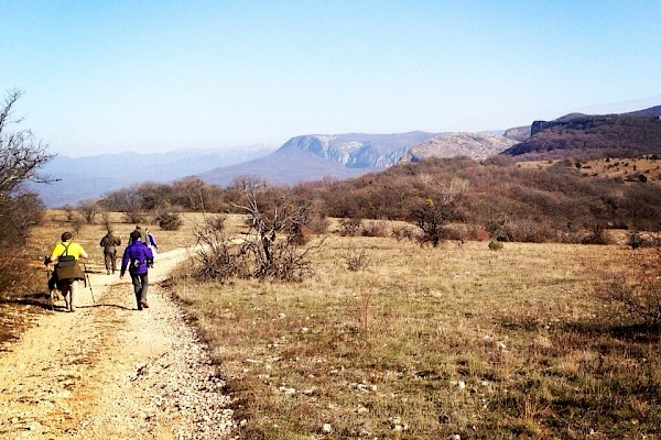 Hike in the Crimea. Partisan paths.